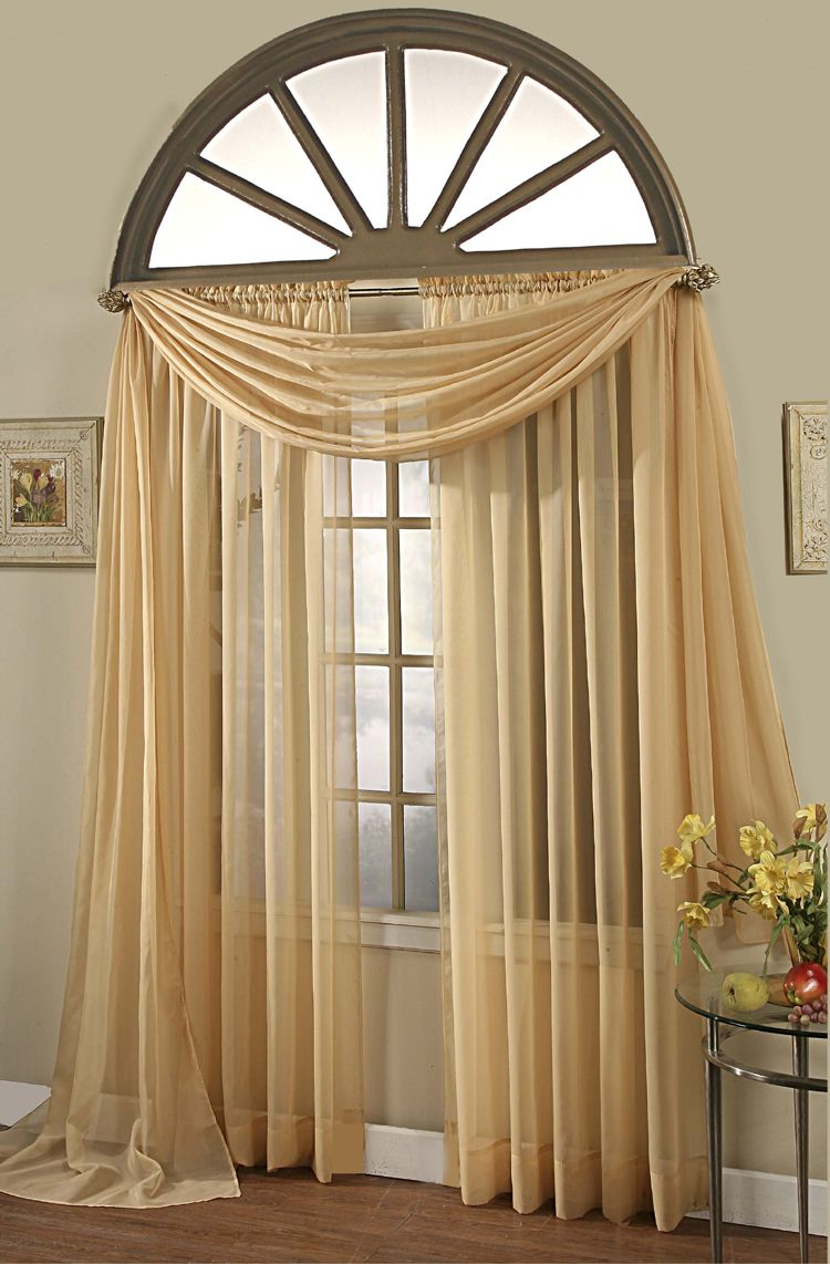 Arched window treatments the image kid for Arch top windows