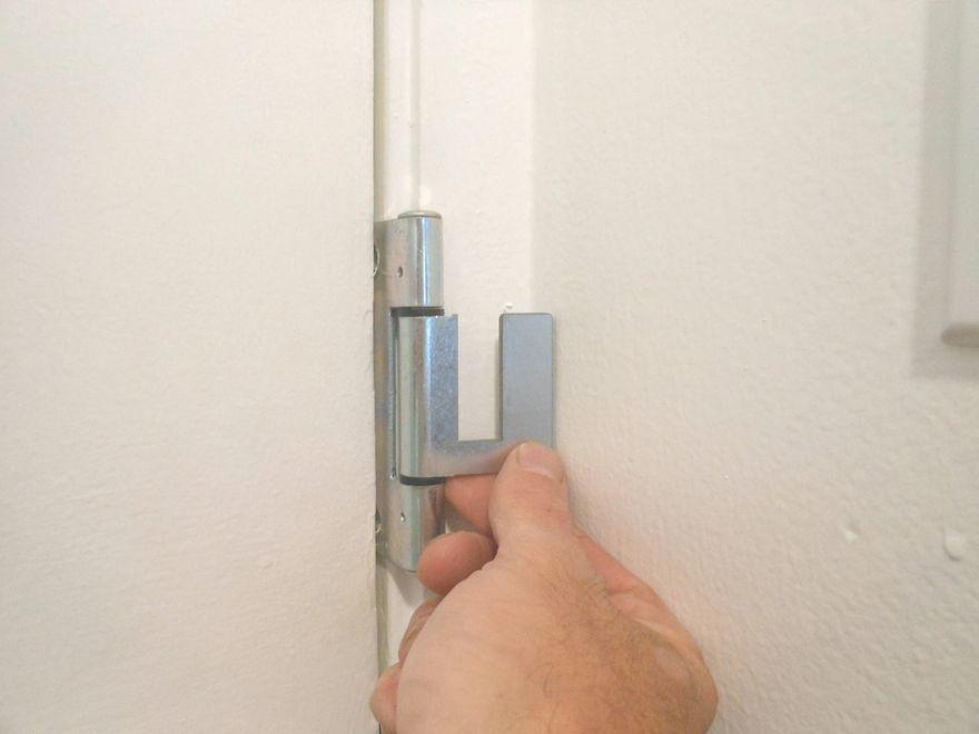 Paintable Hinge Brackets Fold Flat Against Door Molding When Not In Use Security Door Door Bar Door Lock Security