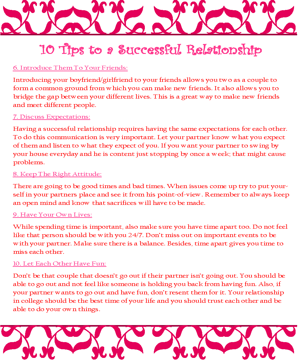 8 basic things you have the right to expect in a relationship