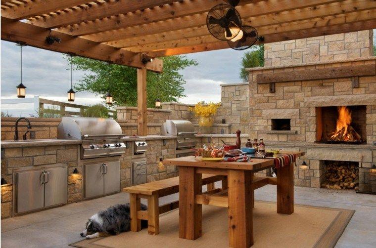 Comedores Y Cocinas Exteriores Ideas Originales Para Su Jardin Nuevo Decoracion Diseno De Exterior De Cocina Cocina Exterior Cocinas Al Aire Libre