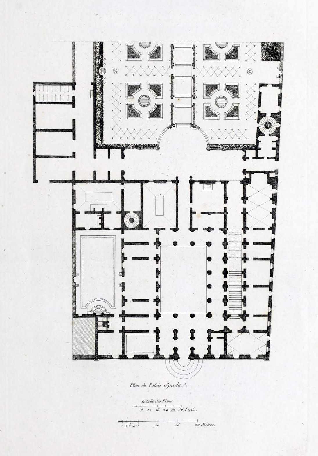 Floor Plan Of The Palazzo Spada Rome