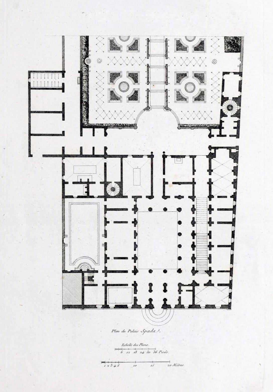 Floor Plan Of The Palazzo Spada Rome