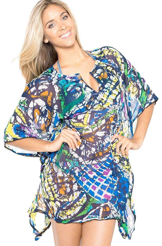 03db2521265 Plus Size Beachwear Bikini Swimwear Swimsuit Beach Cover ups Kimono ...