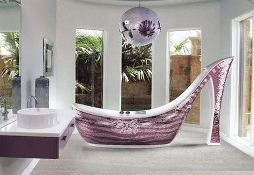 dream bathrooms pictures | Home - Dream Bathrooms / My daughters would love a Cinderella slipper ...
