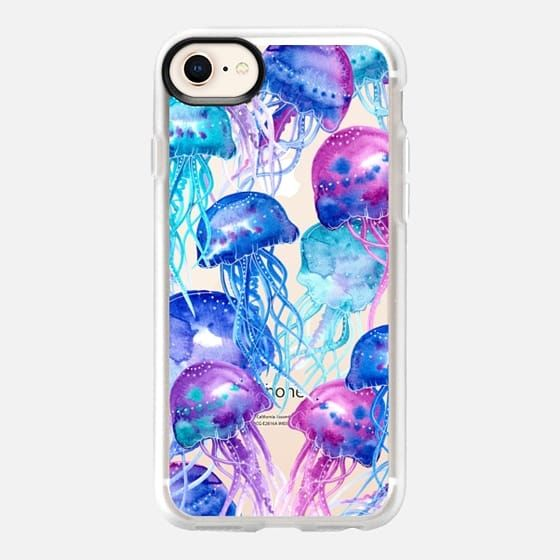 Casetify Iphone 8 Classic Grip Case Watercolor Jellyfish By