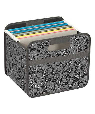 Look what I found on #zulily! Black Paisley Collapsible Storage Bin #zulilyfinds