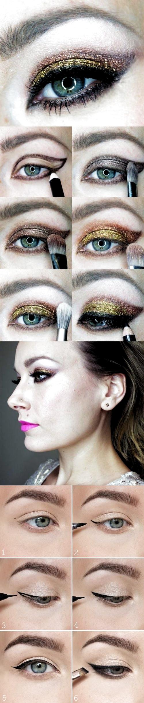 Photo of Fantástico   Pantalla  maquillaje paso a paso con glitter  Conceptos,  #con #Co…