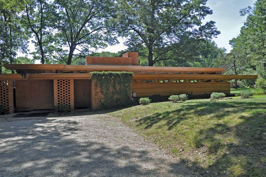 Melvyn Maxwell Smith House. Frank Lloyd Wright. Usonian Style. Bloomfield Hills, Michigan.1949-50