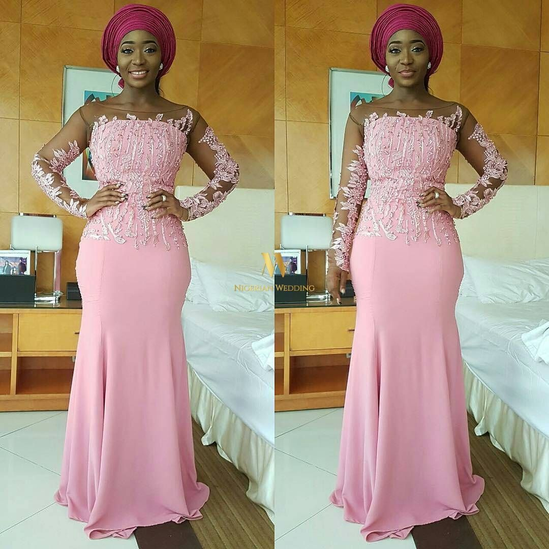 Nigerian Celebrity Wedding: SEE Glam Aso-ebi Belles & Gentlemen At ...