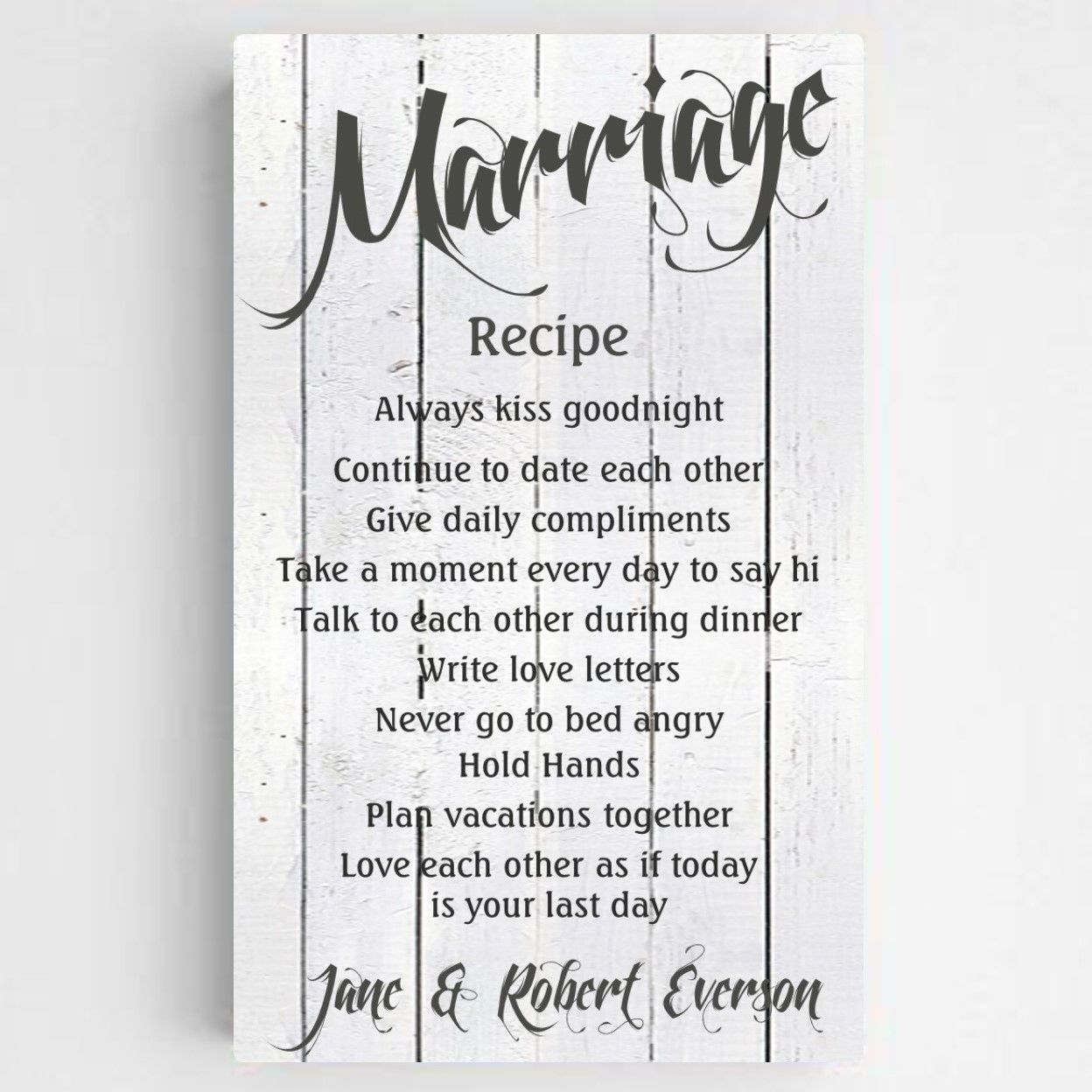Sale We Have Had So Much Interest In Our Gorgeous Marriage Recipe Sign That We Are Now Offeri Recipe For Marriage Marriage Signs Wedding Anniversary Quotes