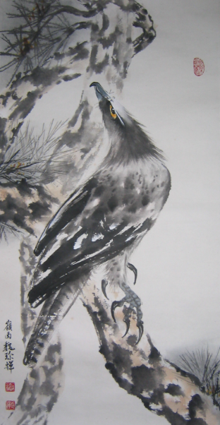 Chinese Traditional painting: Eagle by 魏珍輝 Chen Hui Wei