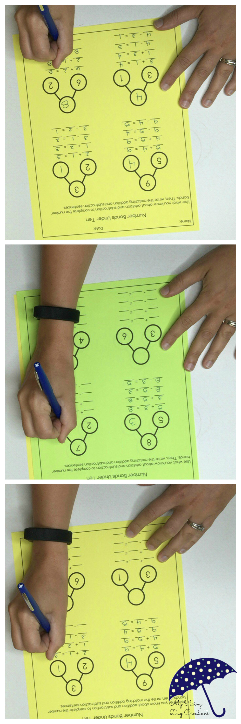 Kids Need To Practice Using Number Bonds To Get Comfortable With The Model These Two Free Wo Kindergarten Math Numbers Math Rotations Common Core Kindergarten [ 3000 x 1000 Pixel ]
