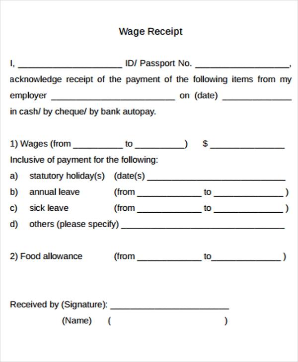 12 Free Printable Salary Templates Word Excel Pdf Hr Samples Sample Resume Receipt Template Templates