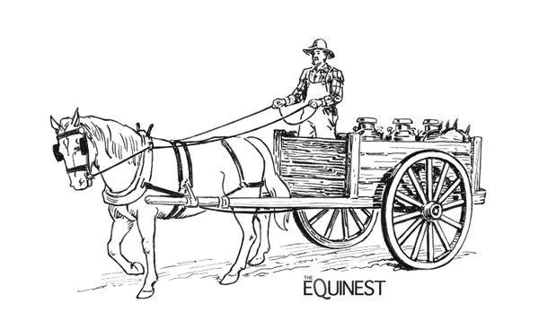 Hay Wagon Google Search Horse Coloring Pages Horse Coloring