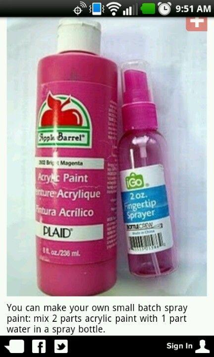 DIY spray paint, saves $