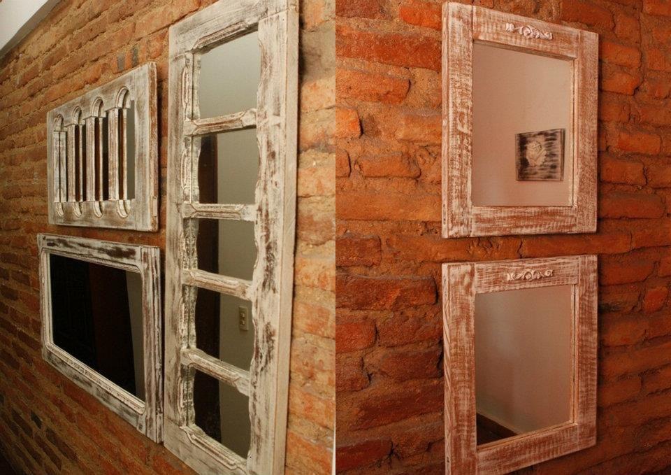 Con viejas puertas y ventanas espejos pinterest for Espejos con puertas viejas