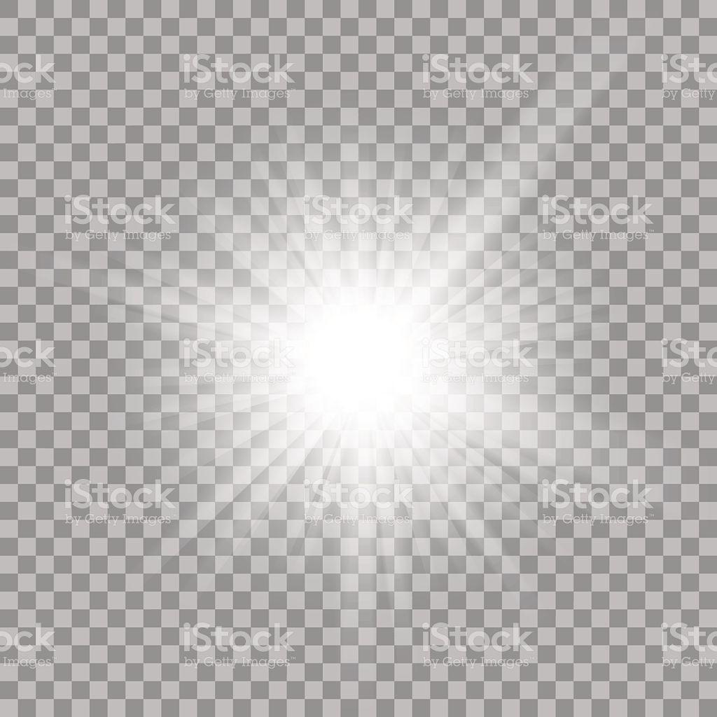 White Glowing Light Burst Explosion With Transparent Vector Transparent Background Vector Illustration Transparent