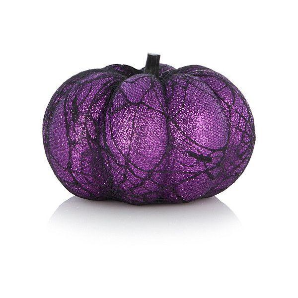Asda Purple Glittering Pumpkin Decoration Halloween ($506) ❤ liked - asda halloween decorations