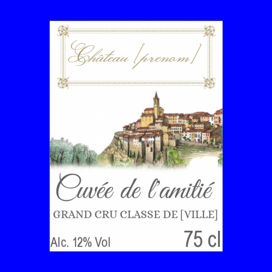 Etiquette De Bouteille De Vin A Personnaliser Etiquette Bouteille De Vin Etiquette Bouteille Vin