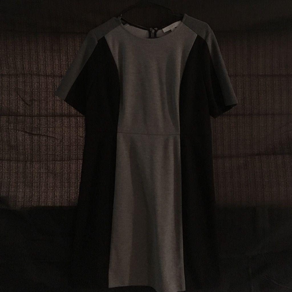 Grey And Black Loft Dress