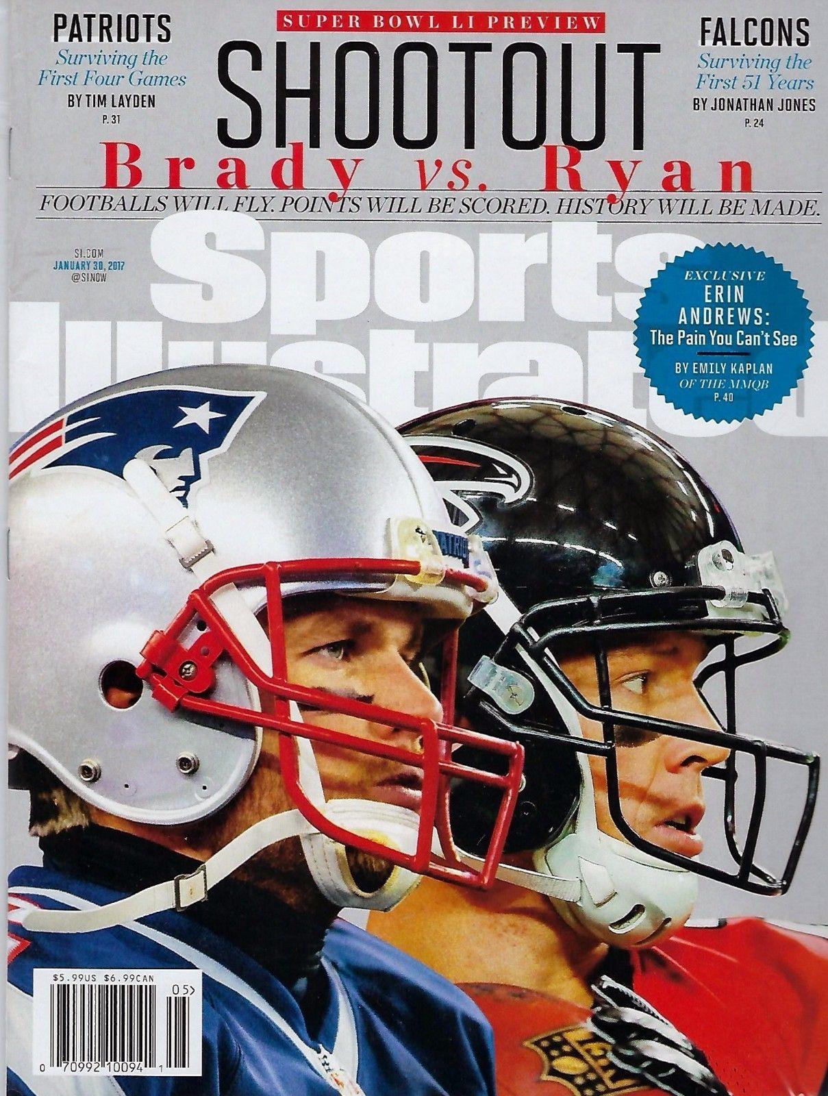 New Sports Illustrated Super Bowl Li Preview Tom Brady Patriots M Ryan No Label Sports Illustrated New England Patriots Football Tom Brady Patriots