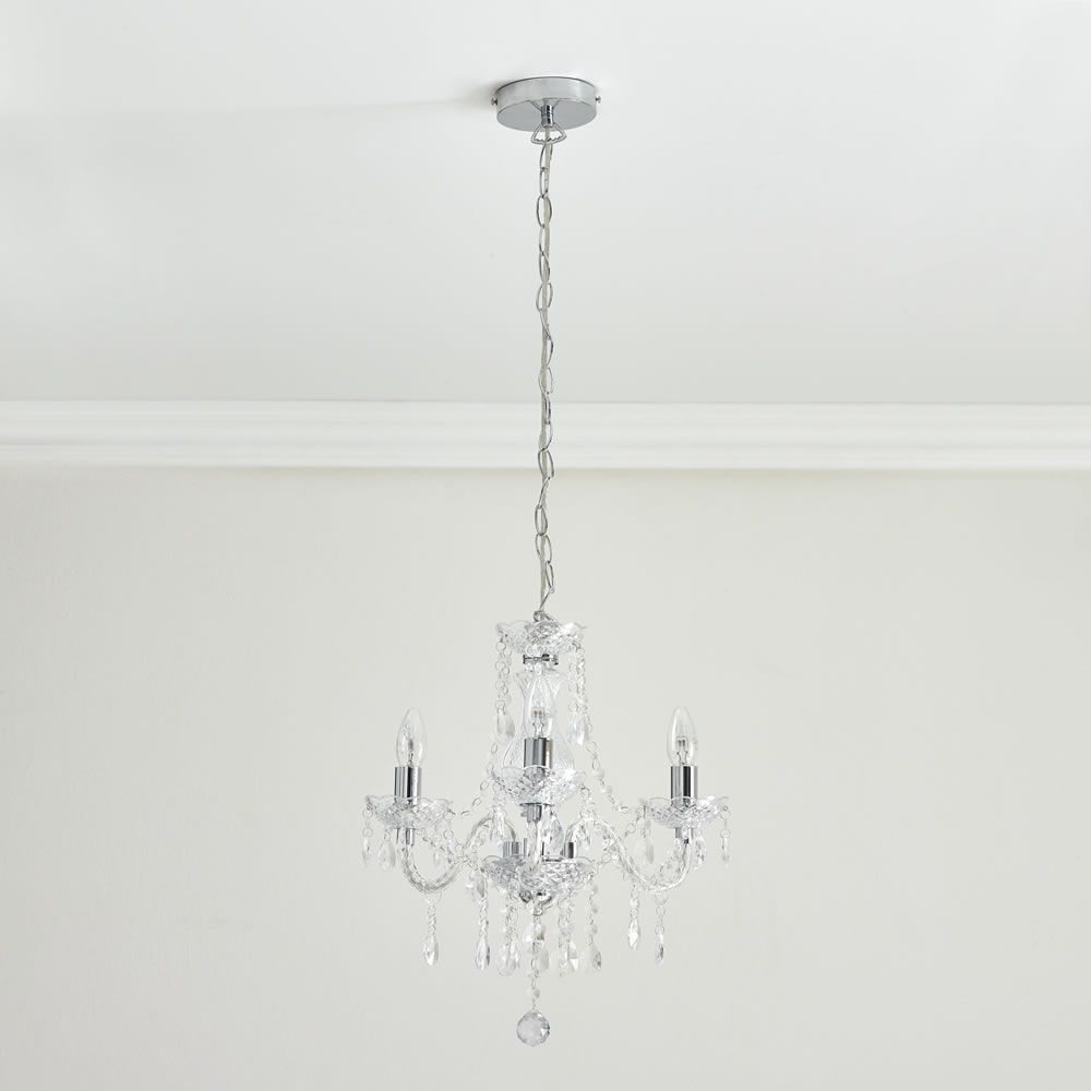 Marie therese chandelier 3 arm clear chandeliers arms and energy marie therese chandelier 3 arm clear mozeypictures Gallery