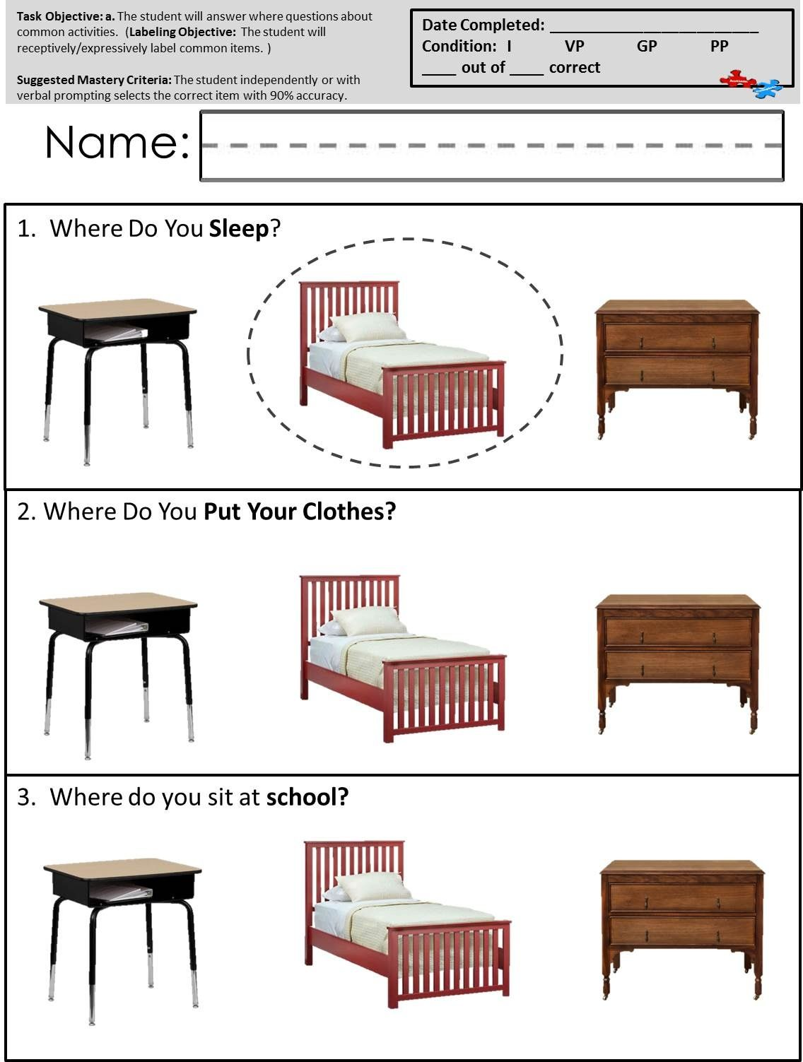 Teach language skills like answering where questions with these – Speech Therapy Worksheets