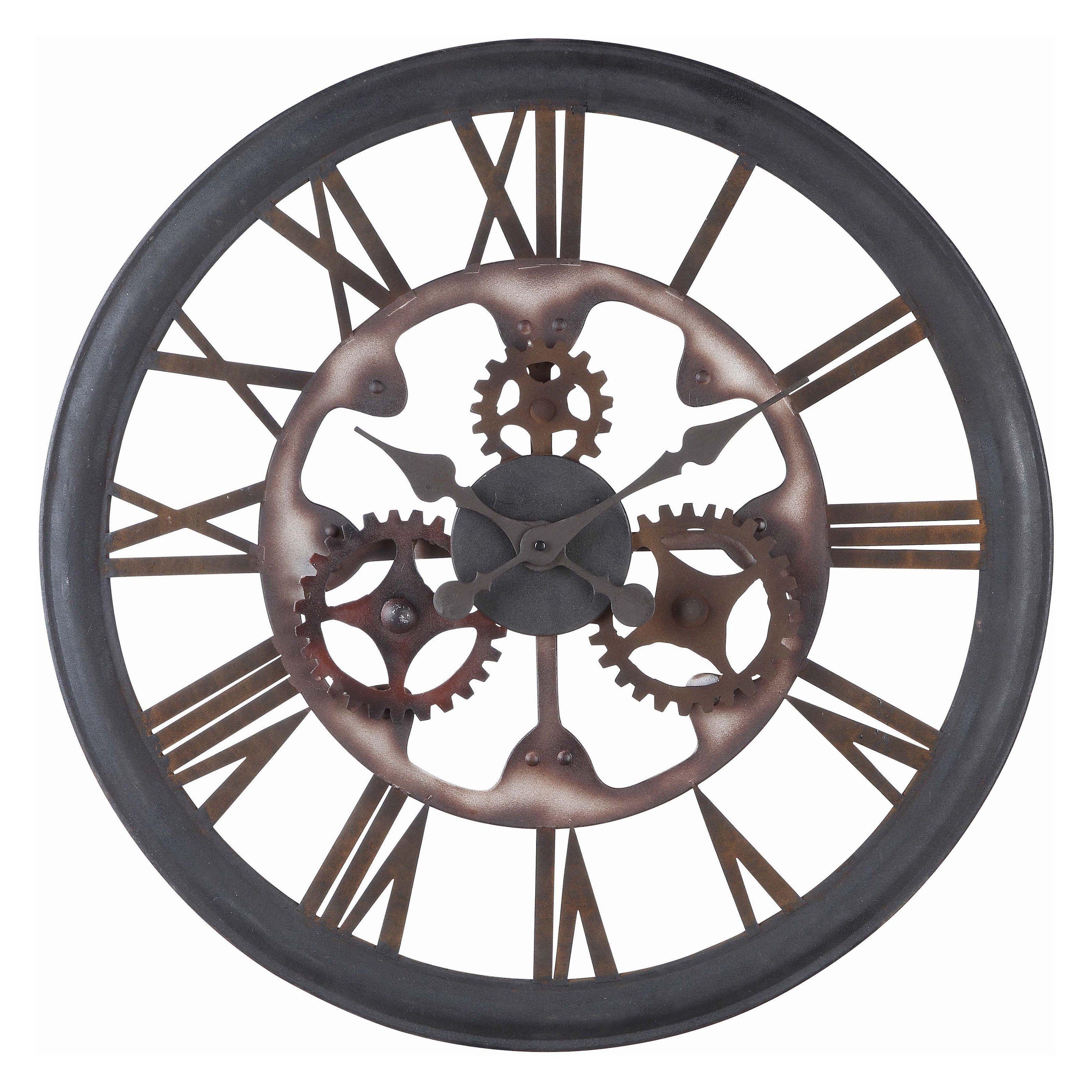 Cooper Classics Senna 26 In Wall Clock Www Hayneedle Com Wall Clock Oversized Wall Clock Steampunk Bathroom Decor