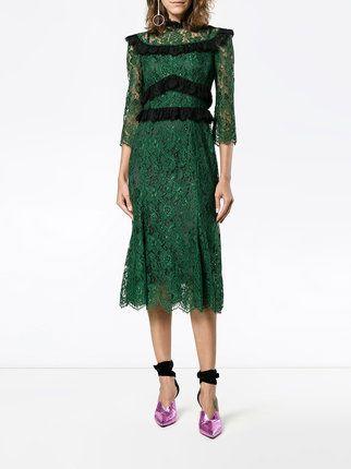 1d85e6ad0be Dolce   Gabbana кружевное платье миди с оборкой
