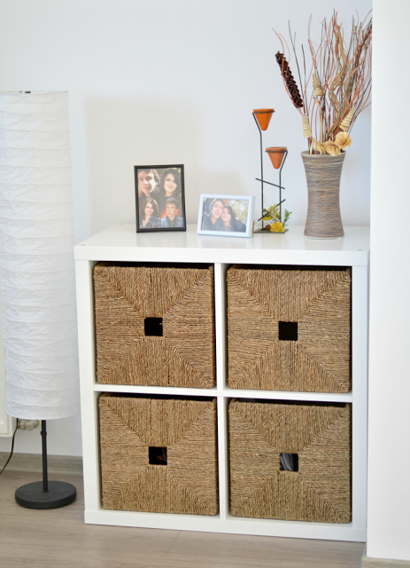 The Living Room Edit Ikea Kallax Shelves With Baskets