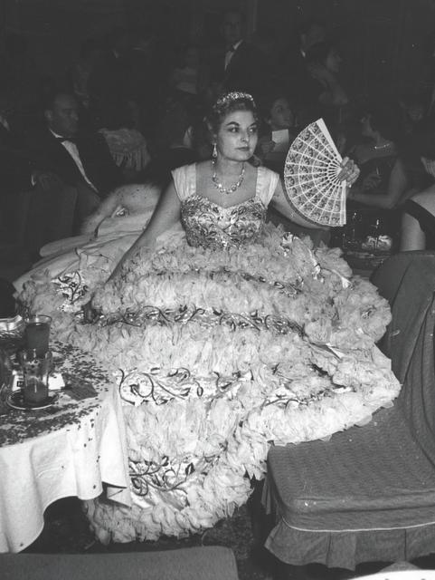 Anna Rontani ad una festa negli Anni Cinquanta
