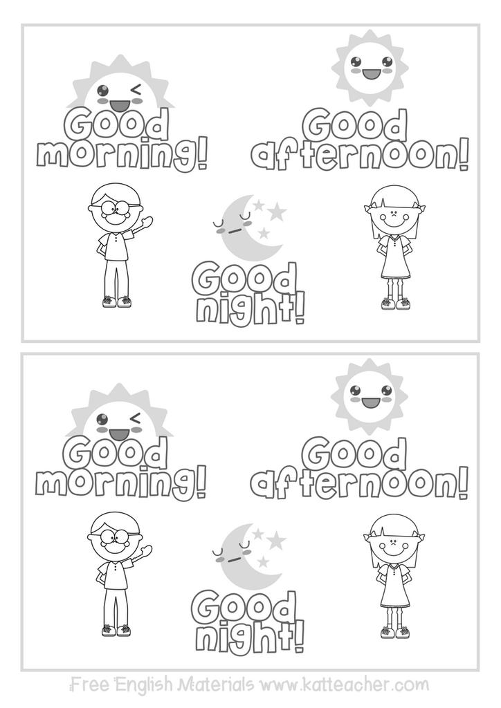 Good Morning! Good Afternoon! Good night! ESL English