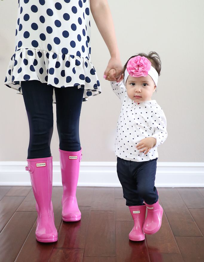 Mommy And Me Outfits Stylish Petite Flamingo Print Dresses Baby Pink Turban
