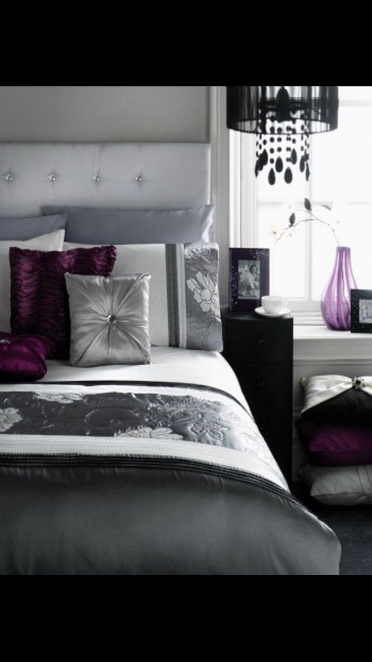 purple black white and silver bedroom pin by k h on home bedrooms bedrooms 20783