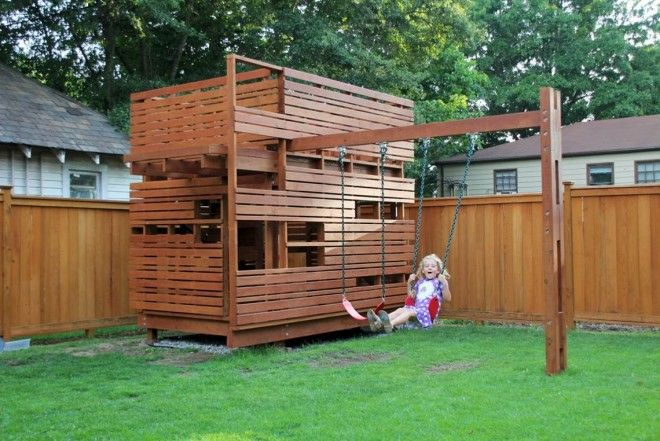 Modern Playhouse Raleigh Cube Design Research Modern Playhouse Play Houses Backyard Playground