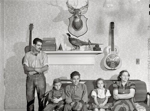The Handsome Family 1941 The Handsome Family Guitar Mount Old Photos