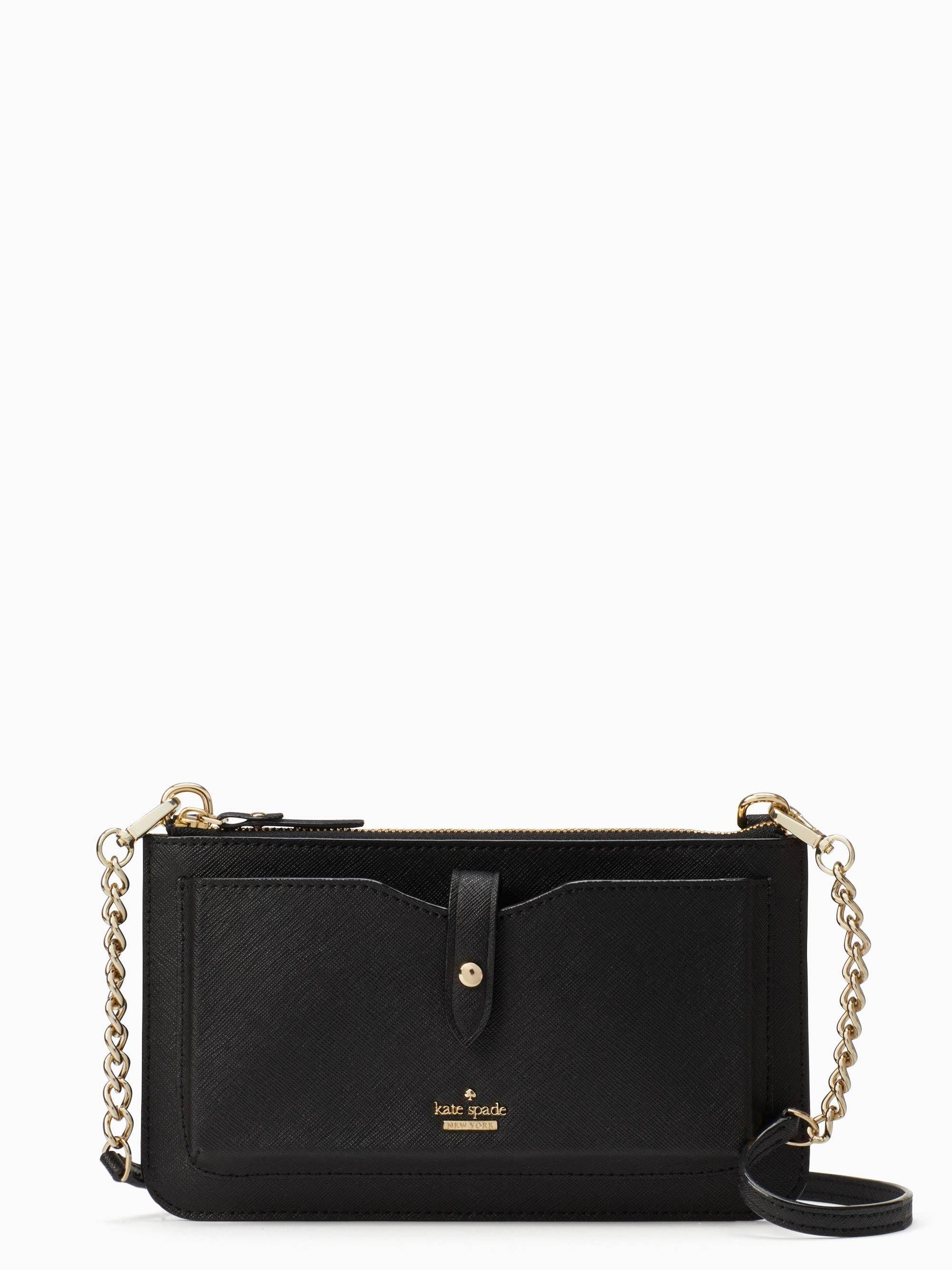 outlet store 0c5f2 8cb08 iphone crossbody bag // black | tenue du jour | Kate spade bag, Kate ...