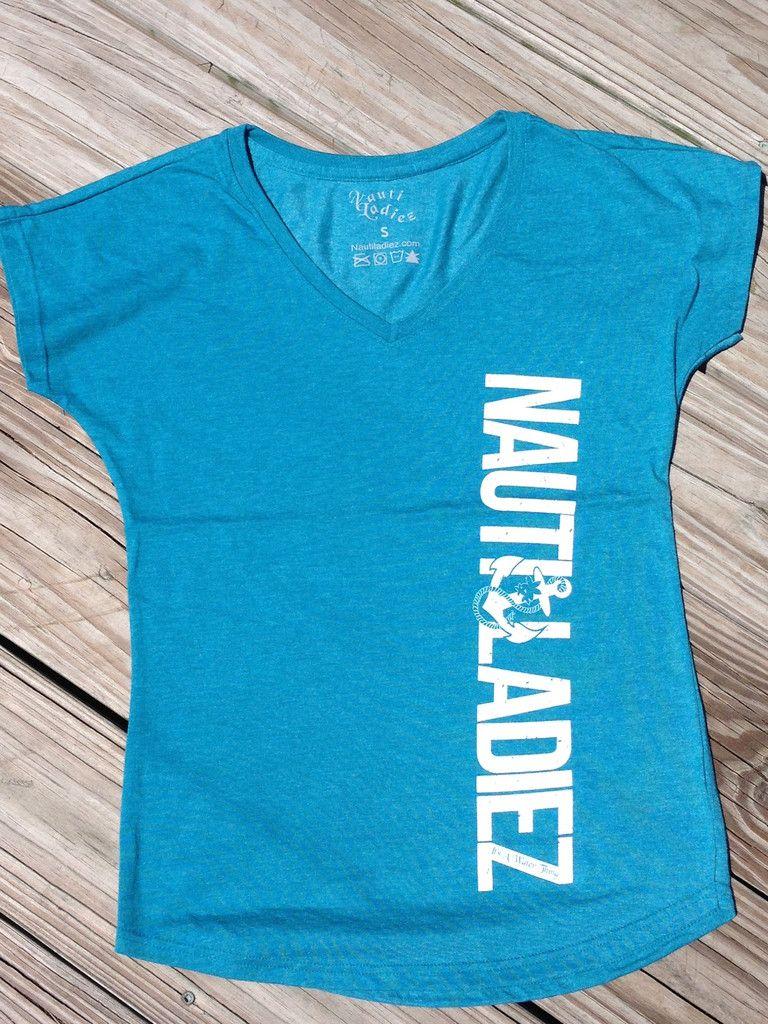 Nauti Ladiez Blue V-Neck T-Shirt