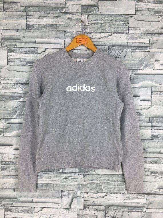 90's Sweatshirt Vintage Equipment Small Ladies Adidas drr7wE