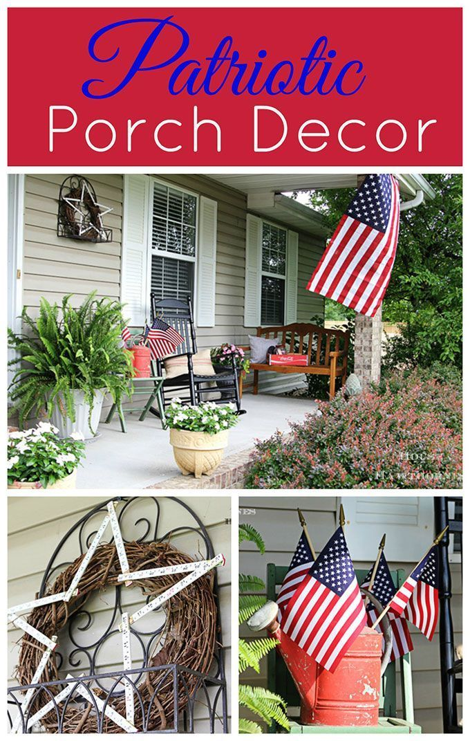 Patriotic Porch Fourth Of July Decor Patriotic Porch Decor Memorial Day Decorations