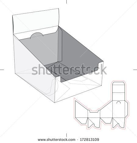 Product display box with blueprint layout papel y carton product display box with blueprint layout malvernweather Images