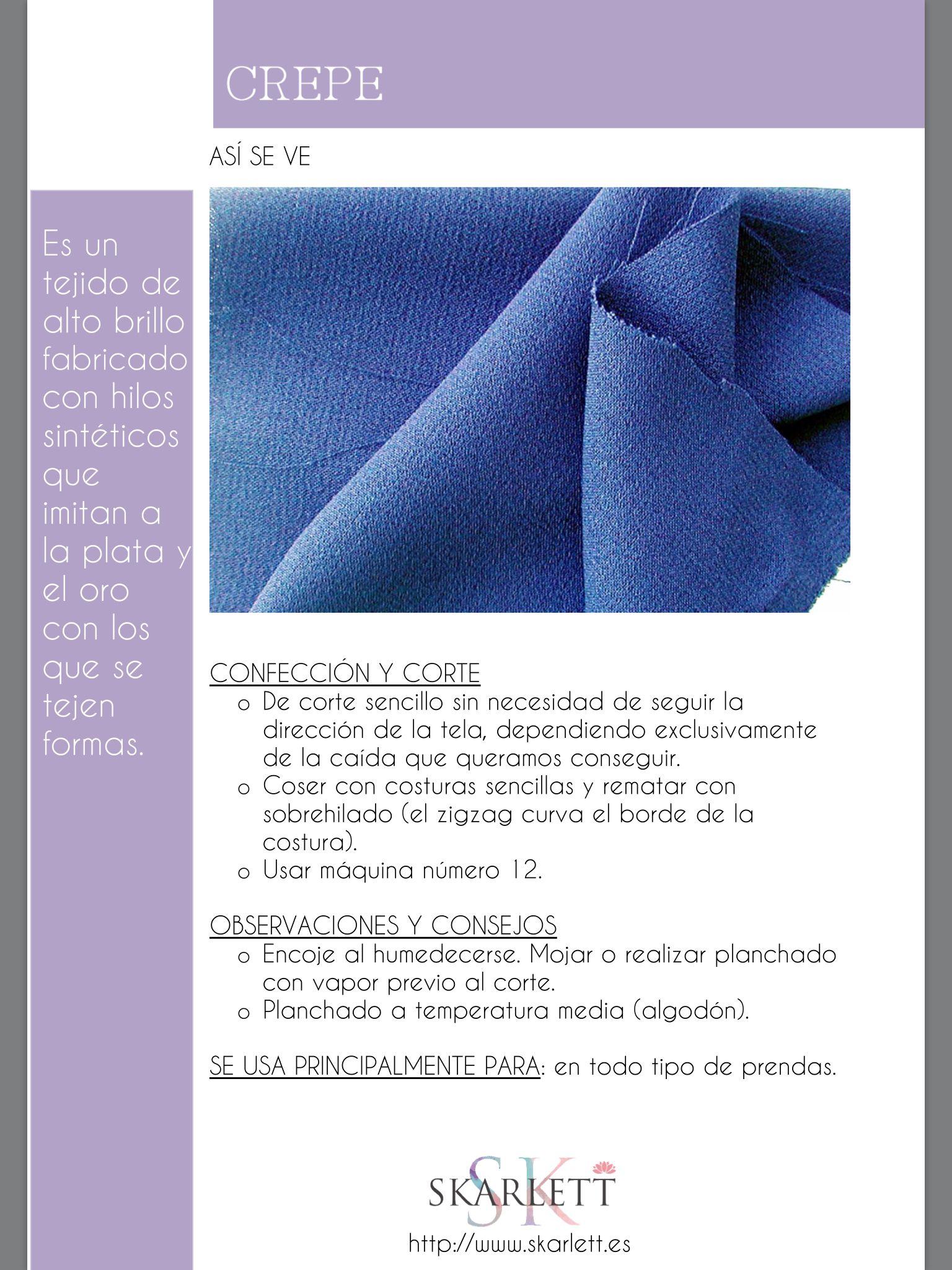 El dossier de las telas Skarlett | Patrones de costura | Pinterest ...