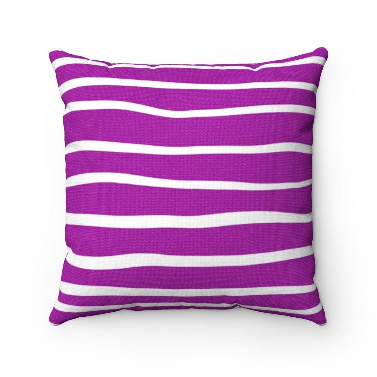 Outdoor Throw Pillow Purple Outdoor Pillow Violet Stripe Patio