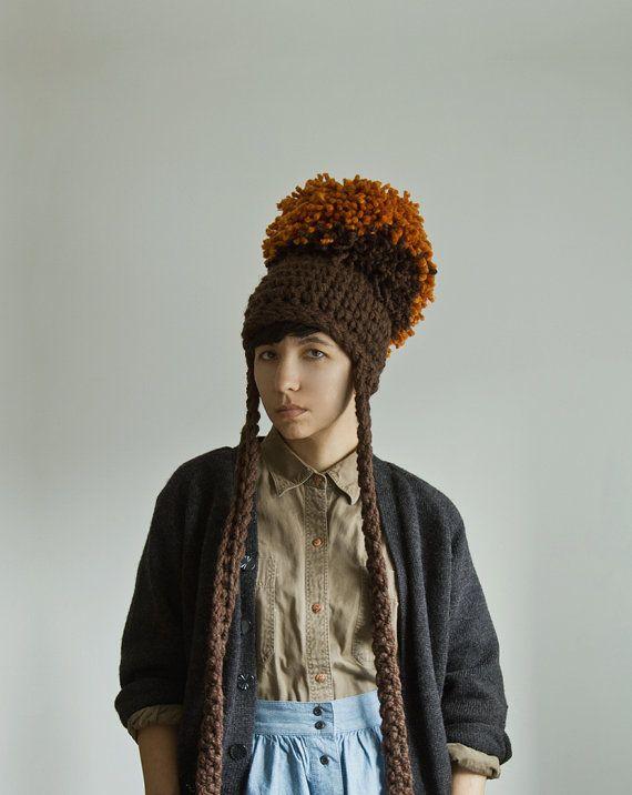 d0034d9ead3 Wearable Chunky Crochet Art by Yokoo Gibran Bobble Hats