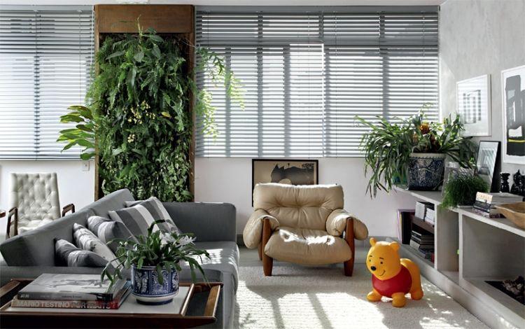 Zimmerpflanzen und grüne Wände gehören zum modernen Wohnzimmer - moderne wohnzimmer wande