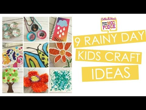 You'll be hoping for rain with these 9 Rainy Day Kids Craft Ideas! Join Cathie & Steve for fun craft project ideas for kids ages 2-10 in our latest Make it with Mod …