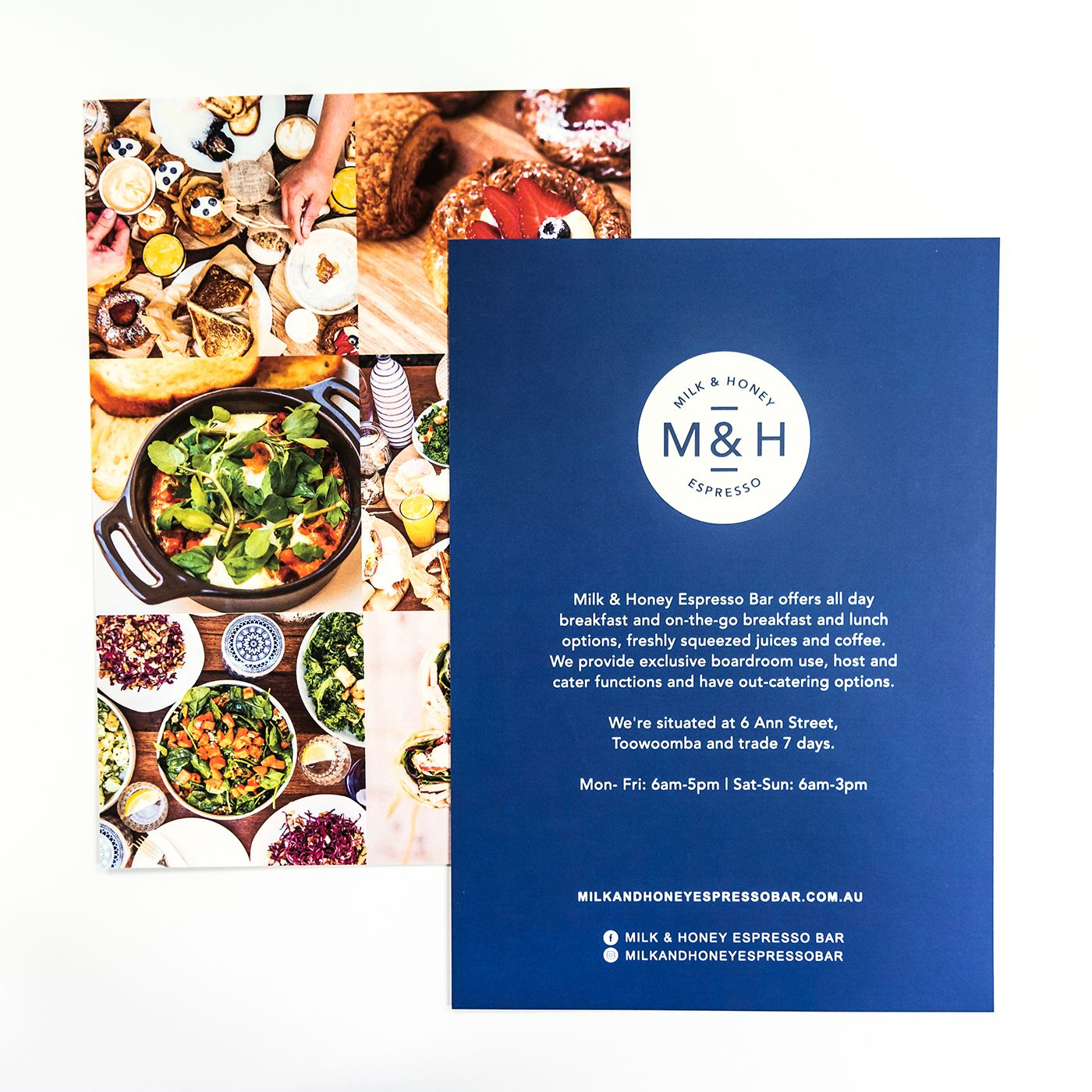 Matte cello over colourful photos make these promo cards for milk a local print shop based in brisbane cbd we specialize in high quality printing of banners business cards flyers and more reheart Gallery