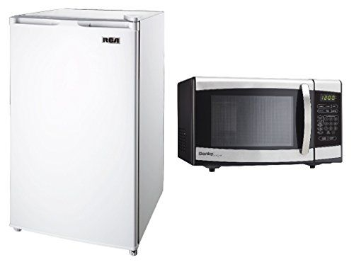 Package: RCA RFR321-White Refrigerator, 3.2 Cubic Feet, White & & Danby Developer 0.7 cu.ft. Counter top Microwave, Black/Stainless Steel - http://onlinebusiness-rc.com/kitchen/bundle-rca-rfr321-white-fridge-3-2-cubic-feet-white-danby-designer-0-7-cu-ft-countertop-microwave-blackstainless-steel/