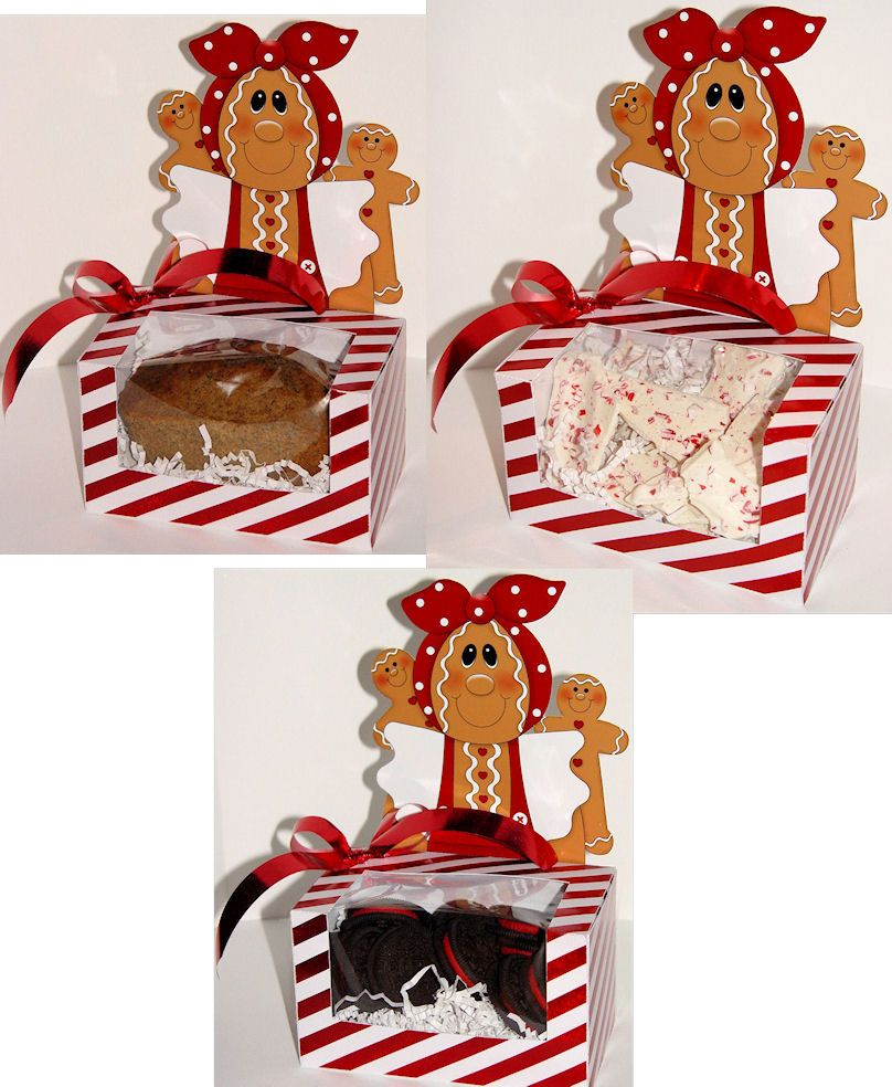 Gingerbread Mini Loaf Or Cookie Treat Box Here Is A Cute