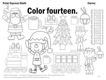 Kindergarten Christmas Math Worksheets, Counting Christmas